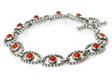 Pandora Silver Bracelet Genuine - Carnelian Cabochon - 590401CAR Retired Unique