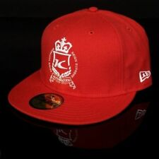 KING UK NEW ERA Limited Edition Authentic Fitted Cap Hat Red *7 1/8*