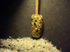glitter mix acrylic gel nail art     WHITE RUSSIAN