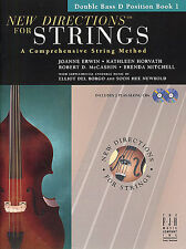 New Directions Strings Method Learn D Position Double Bass Music Book 1 & CD