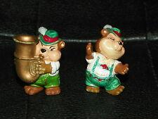 2 Vintage KINDER EGG Toys Surprise BEARS Bavarian Band Music Cake Topper