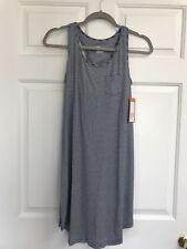 Gilligan & O'Malley Navy Stripe Nightgown Sleep Tank Women's NWT Size Small