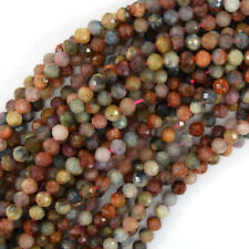 """5mm natural faceted watermelon tourmaline round beads 15.5"""" strand S2"""