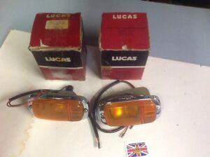 NOS Lucas Front Park/Turn Lamps (pair) 1968-69 Austin America