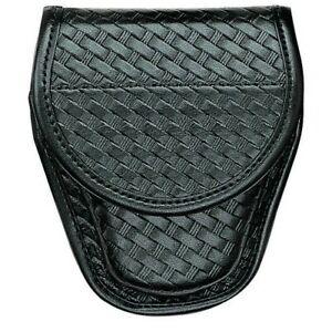 Bianchi Black 7900 Basketweave Accumold Elite Oversized Handcuff Cuff Case