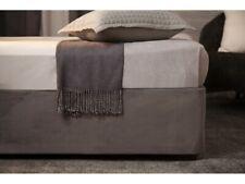 Belledorm Faux Suede Divan Base Wrap Double Bed Size in Charcoal 38cm Deep