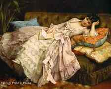 Sweet Doing Nothing by Toulmouche - Art Rich Woman Laying Couch  8x10 Print 0491