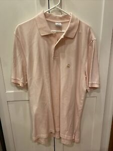 Brooks Brothers Men's Pink Polo Large