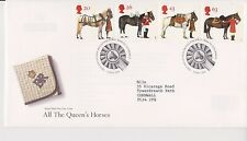 GB ROYAL MAIL FDC FIRST DAY COVER 1997 THE QUEEN'S HORSES STAMP SET BUREAU PMK