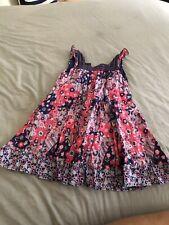 Pumpkin Patch girls summer dress cotton lined blue flowers full skirt age 3