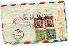 Weeda China Censored 1943 Airmail cover to Turtleford, SK, Canada