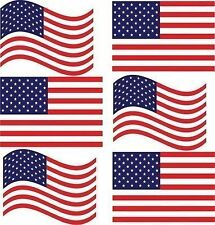 New listing Usa American Flag 6 pack wavy 5in decals stickers large support our country