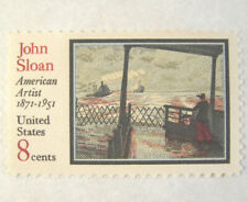 Lot of 50 Sloan painting ferry 8c Postage Stamp singles MNH Sc#1433 @ face value