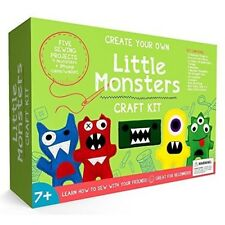 Childrens Sewing Kit Kids Craft Girls Beginners Kits Make Your Own Monsters Set