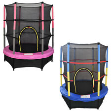 """4.5FT 55"""" Junior Trampoline With Safety Net Enclosure Kids Child Outdoor Toy"""