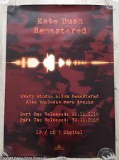 KATE BUSH -  REMASTERED - PROMO POSTER - (vinyl lp before dawn aerial lionheart)