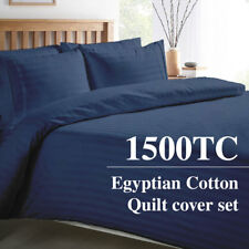 1500TC Egyptian Cotton Ocean STRIPE  Luxury Quality Quilt Duvet Cover Set