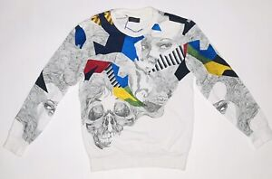 Zara Man Sweater Crewneck Embroidery Very Rare