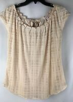 LC LAUREN CONRAD Textured Top Blouse, Size XS, F