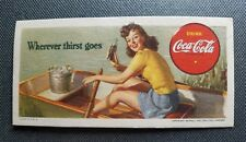 1942 World War 2 Coca Cola Coke Lithograph Advertisement Wherever Thirst Goes