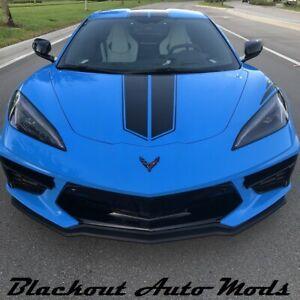 Matte Black Precut Racing Stripe Kit FITS Chevy Corvette C8 2020 +