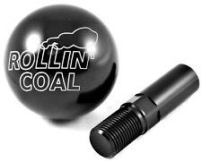 "Dodge Ram Cummins Rollin Coal 2.25"" Billet Aluminum Shift Knob Black w/ Adapter"