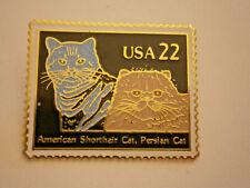 Us Postal Service American ShortHair Cat Usa 22 Usps Stamp Pin