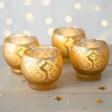 Damask Glass Candle Holder, 3.25 in. dia x 3 in, Gold, 6 Pk Party Decor Votive