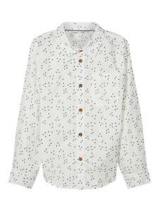 Jungen Hemd Weiß langarm Anzugshemd Nitfred Slim Organic Cotton festlich Name it