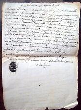 1792 DOCUMENTO MANOSCRITTO CASALECCHIO DI SOPRA (CASTEL SAN PIETRO) RARO BOLLO