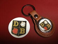DAVID BROWN TRACTORS   REAL LEATHER KEY RING  & FREE DAVID BROWN   PHONE STICKER