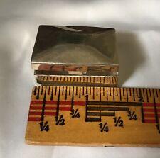 Vintage Sterling Silver Pill Trinket Box