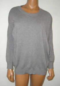 DREAMERS Casual Gray Sweater Top,Soft Thin Sweatshirt,Pullover Shirt,Cardigan,S
