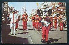 1970s Walt Disney World, Orlando Florida, Mickey Mouse leads Main Street Parade