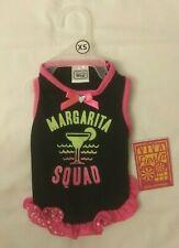Simply Wag Viva Fiesta Black Pink Margarita Squad Dog Apparel Dress Sz XS New