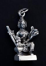 Amulette Pendentif Dieu createur Brahma Argent 925 12 g Bijou Hindou K15 25417