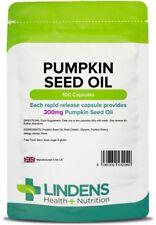 Pumpkin Seed Oil 300mg -  men's health tablets (100 capsules) [Lindens 2049]
