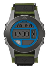 Nixon A4891376 Baja Surplus Gray Blue Digital 50 MM Nylon Strap New Surf Watch