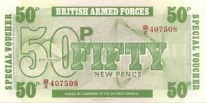 UK ARMED FORCES 🌎💶 50 Pence PM - 49 💶🌎💶 UNC from 1972