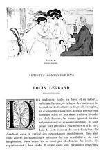 LOUIS LEGRAND PEINTRE DIJON ARTICLE DE PRESSE PAR HENRI FOCILLON 1911