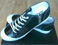 BNWT Homme Cult Toile Noire Chaussures Taille 9.5 RRP 105.00