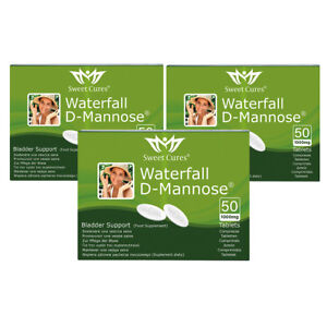 (3 Pack) DMannose Tablets 50 x 1g   Waterfall D-Mannose   Bladder Support : 3TPL