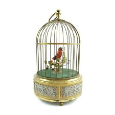 Antique Singing Bird In Cage Music Box Automation Chirps Head Moves See Video