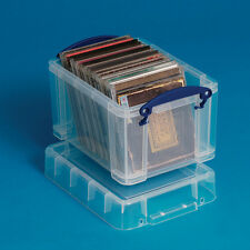 Really Useful 3 Litre Clear Plastic Box  Perfect for CD's H160 x W180 x D245mm