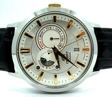 Orient classic sun moon phase stainless steel automatic date watch FET0P004W0