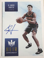 2019-20 PANINI COURT KINGS HEIR APPARENT DE'ANDRE HUNTER RC SSP AUTO /125
