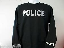 Reflective Long Sleeve T-Shirt Your Choice of Police or Sheriff w Free Shipping