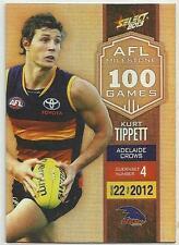 2013 AFL SELECT CHAMPIONS MILESTONE GAME MG04 Kurt Tippett Adelaide CROWS CARD