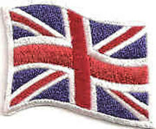 Iron On/ Sew On Embroidered Patch Badge Flag Union Jack Waving UK National Flag