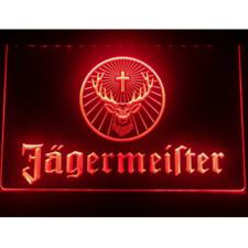 Jagermeister LED Neon Bar Sign Home Light Up Pub Gift Beer Lager Open Jager Bomb